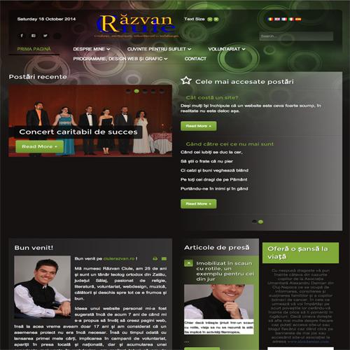 Răzvan Ciule-Pagina oficială-Credință, mărturisire, voluntariat și webdesign