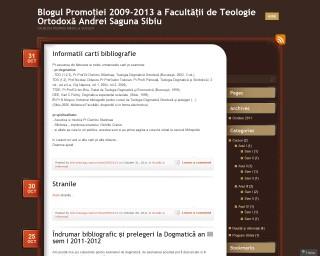 """Blogul promoției 2009-2013 a Facultății de Teologie Ortodoxă """"Andrei Șaguna"""" Sibiu"""