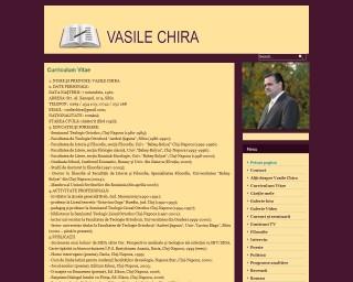 Pagina personală a scriitorului și lectorului Vasile Chira